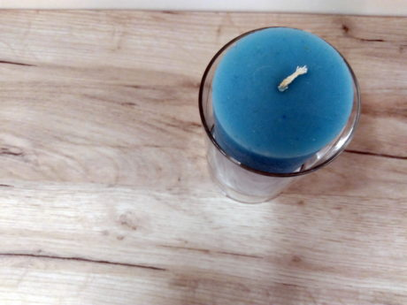 wood, table, wood, candle, blue, floor, glass, object