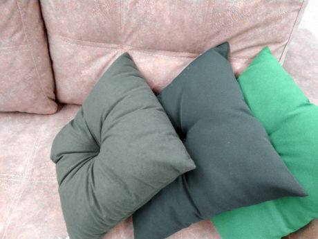 bed, cushion, furniture, green, pillow, sofa, interior