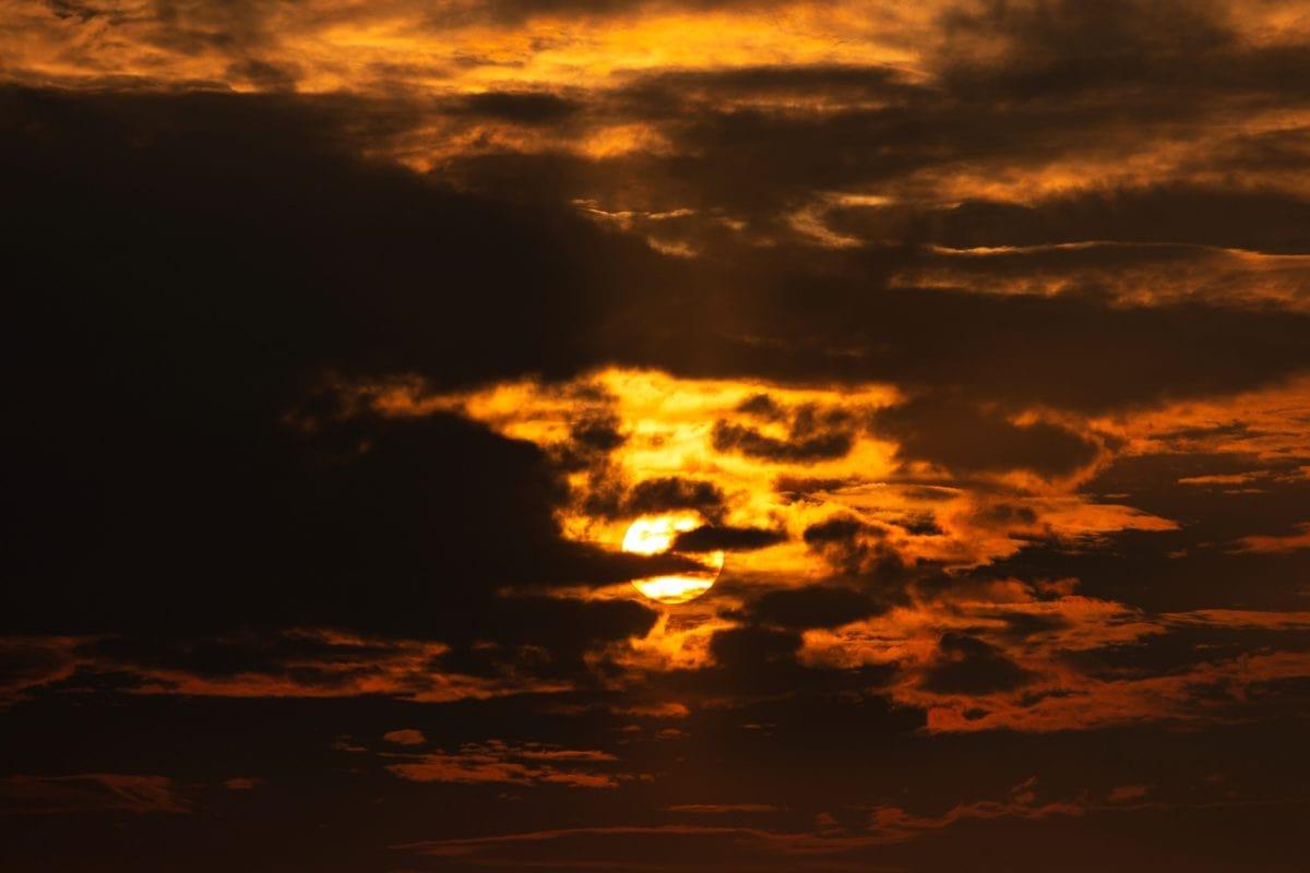 zalazak sunca, sumrak, sunce, zora, nebo, atmosfera, izlazak sunca, oblak