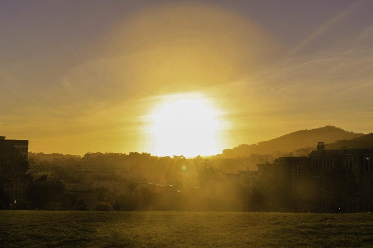 gökyüzü, Güneş, sis, sis, şafak, peyzaj, gün batımı, gündoğumu, açık