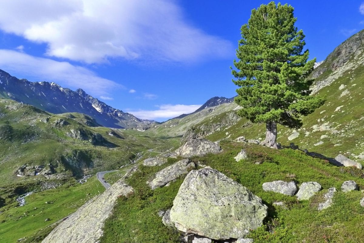 mountain, nature, blue sky, valley, landscape, outdoor, big stone