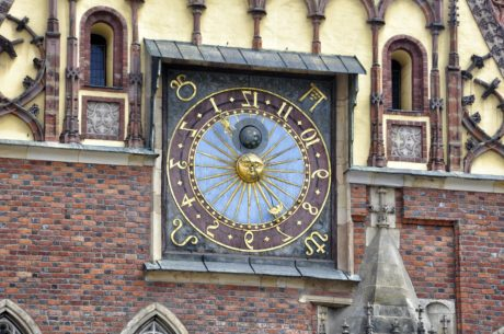 horloge, architecture, vieux, main, indicateur, gothique, montre, temps
