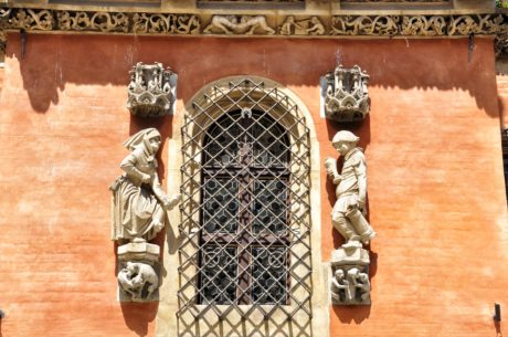arkitektur, fönster, skulptur, gjutjärn, dekoration, konst, fasad, gamla