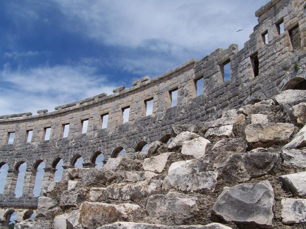 architecture, old, Rome, Italy, tourist attraction, ancient, archaeology, stone, rampart, wall