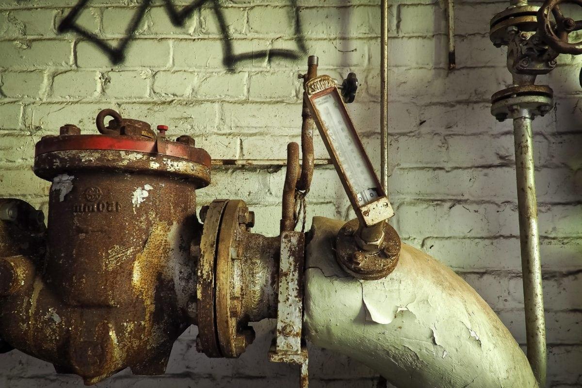 ferro, termômetro, aço, velho, metal, ferro fundido, objeto, fábrica, indústria, material