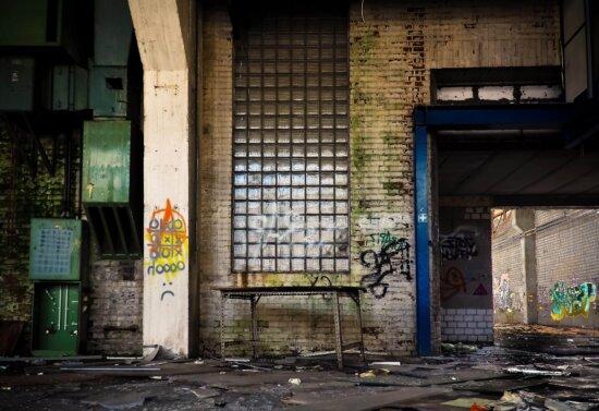 architecture, rue, industrie, urbain, vieux, mur, extérieur