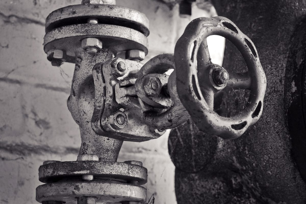 monochrome, industry, factory, object, cast iron, old, rust