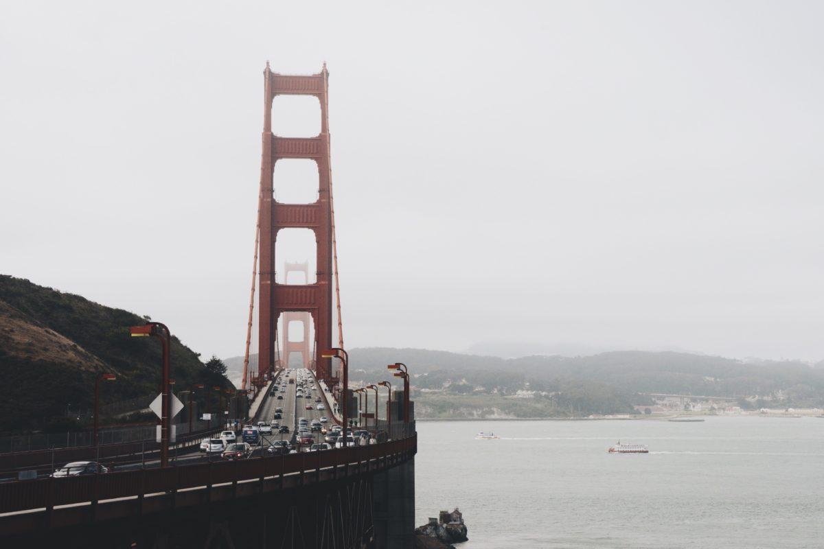 voda, more, San Francisco, most, prístav, oceán, obloha, vonkajšie