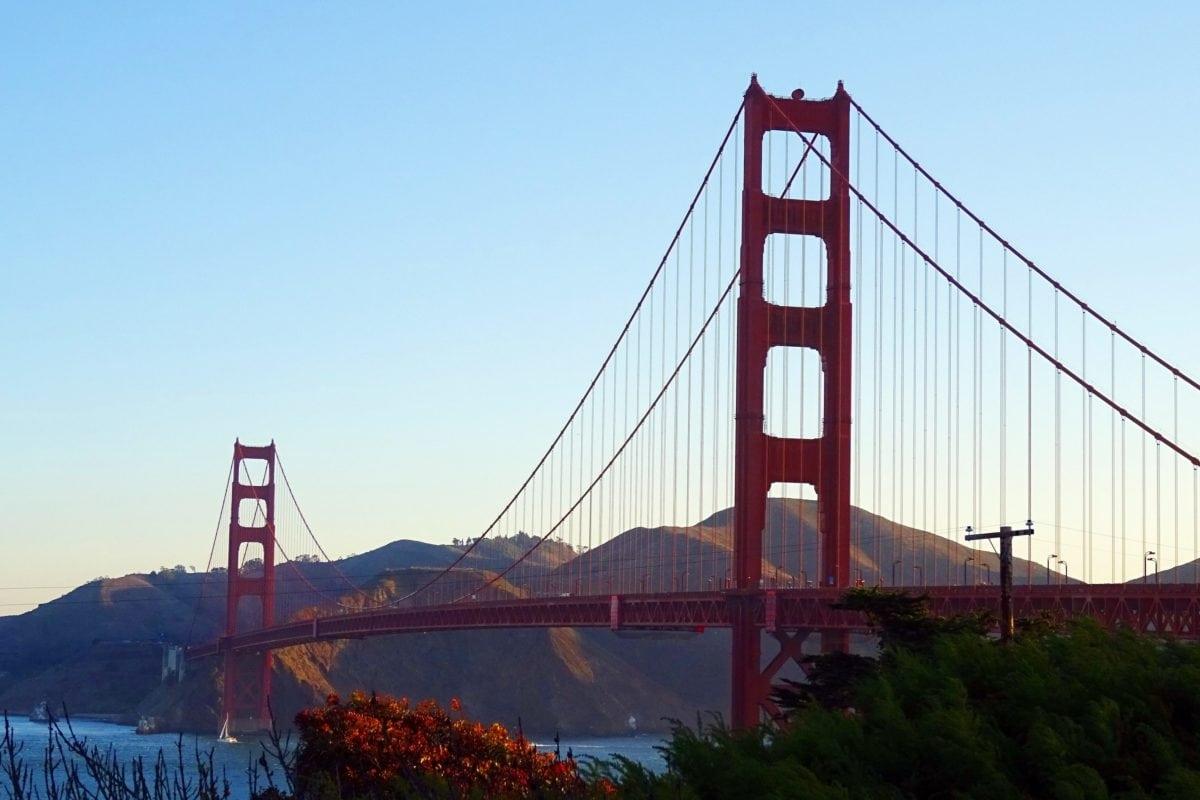 νερό, ουρανός, Σαν Φρανσίσκο, γέφυρα ανάρτησης, αρχιτεκτονική, δομή