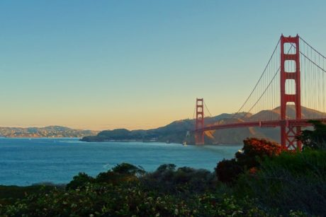 water, San Francisco, bridge, sea, ocean, bay, coast, landmark, structure