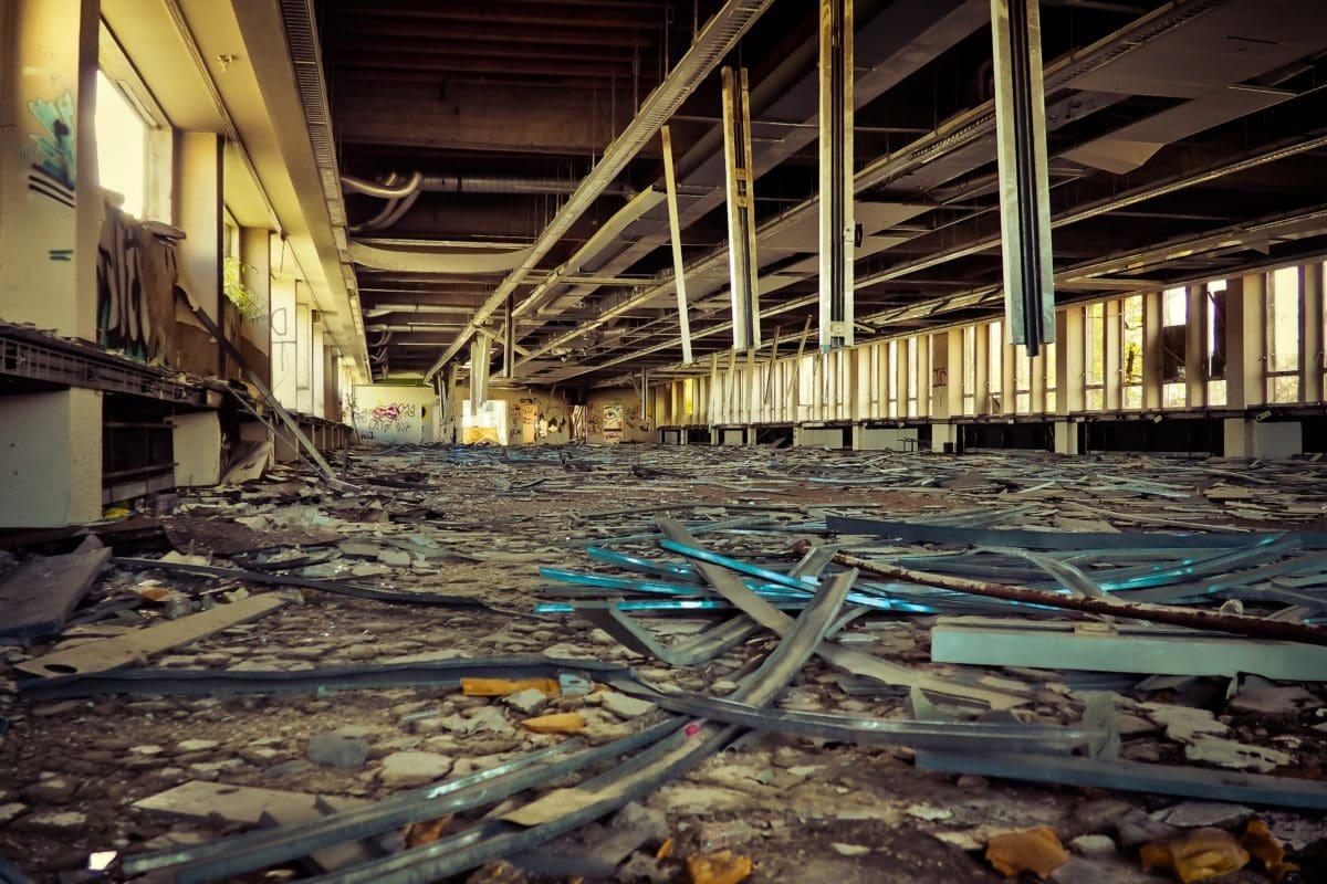 industry, steel, interior, metal, material, garbage, steel