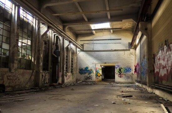 Graffiti, Lager, Architektur, Vandalismus, Indoor