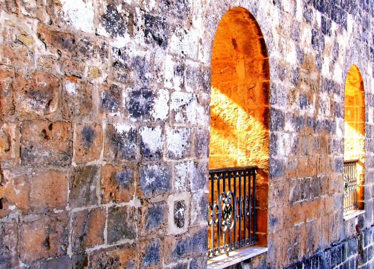 wall, old, architecture, brick, arch, light