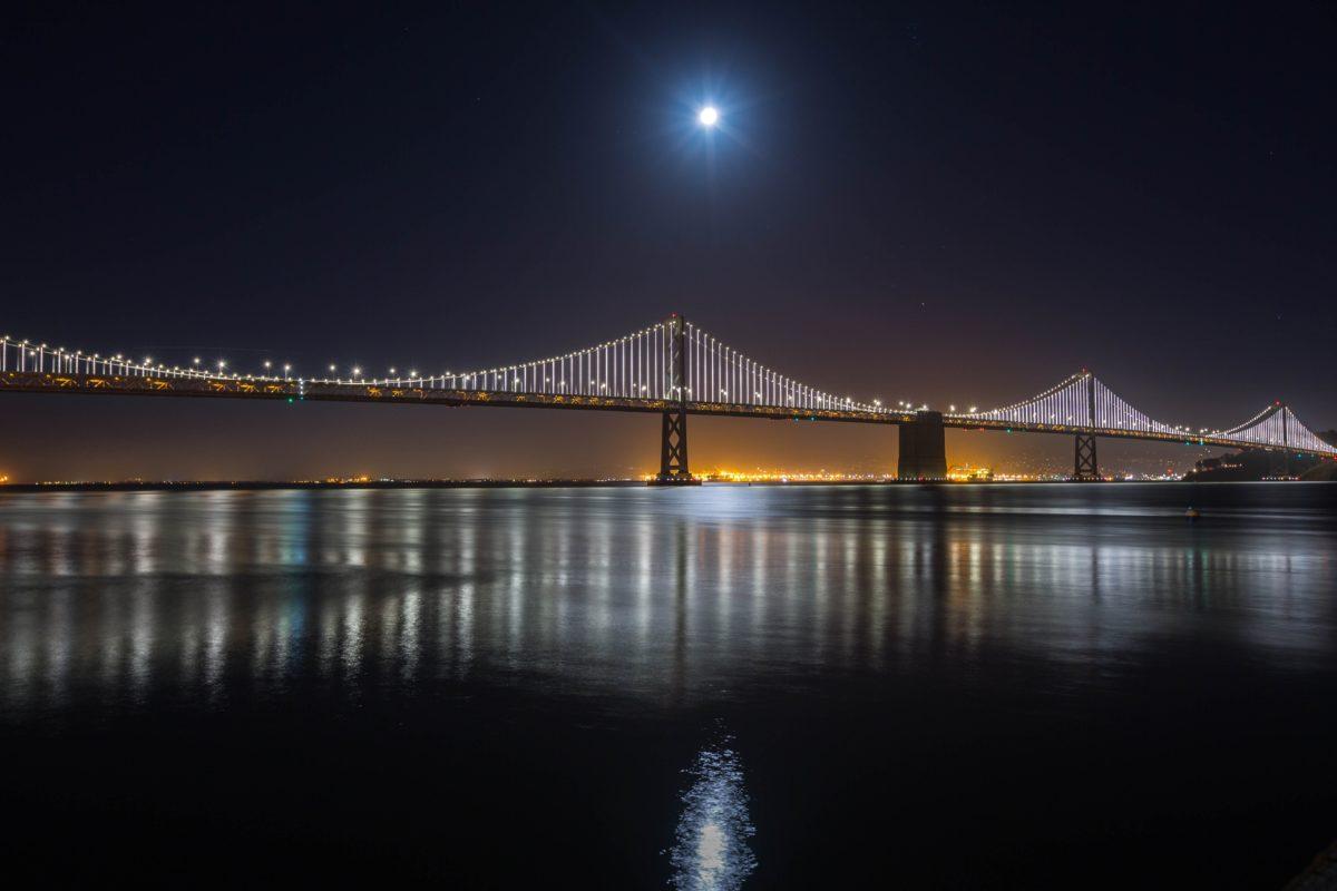 reflection, sunset, bridge, water, dusk, river, architecture, night, reflection