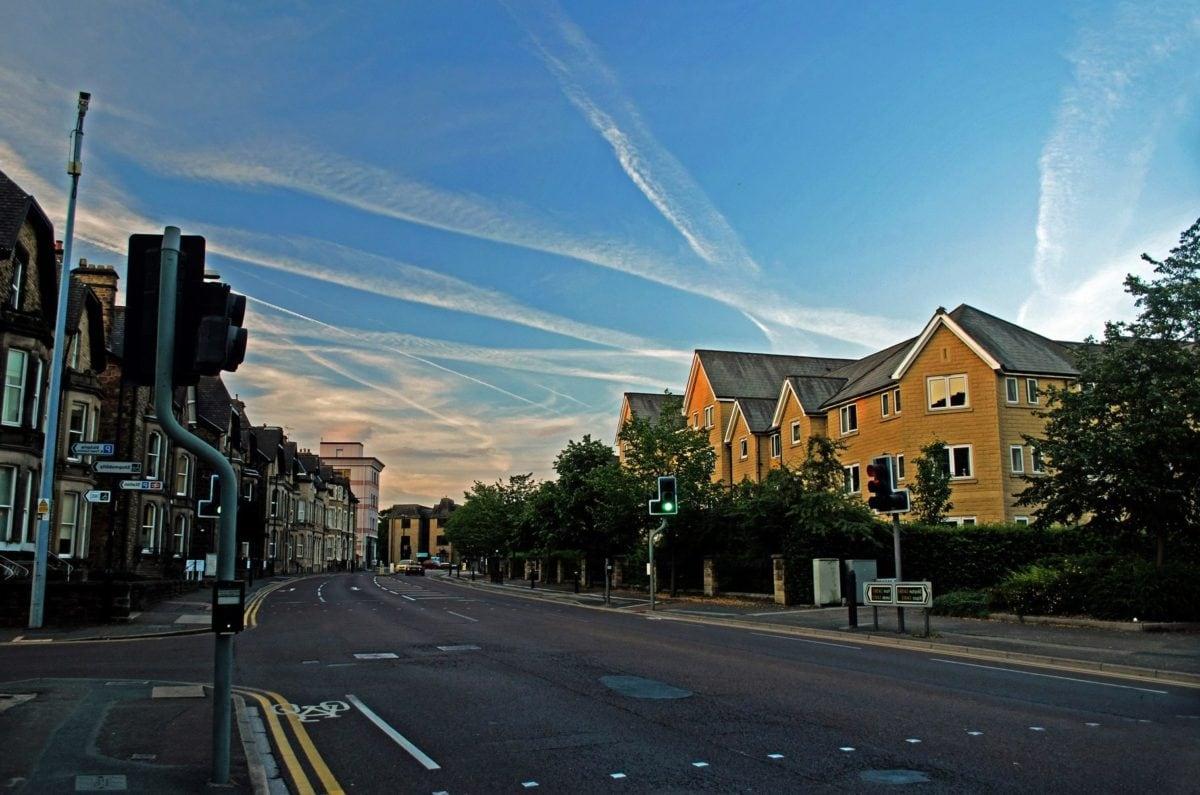 road, city, street, architecture, urban, blue sky, sunset, asphalt, outdoor