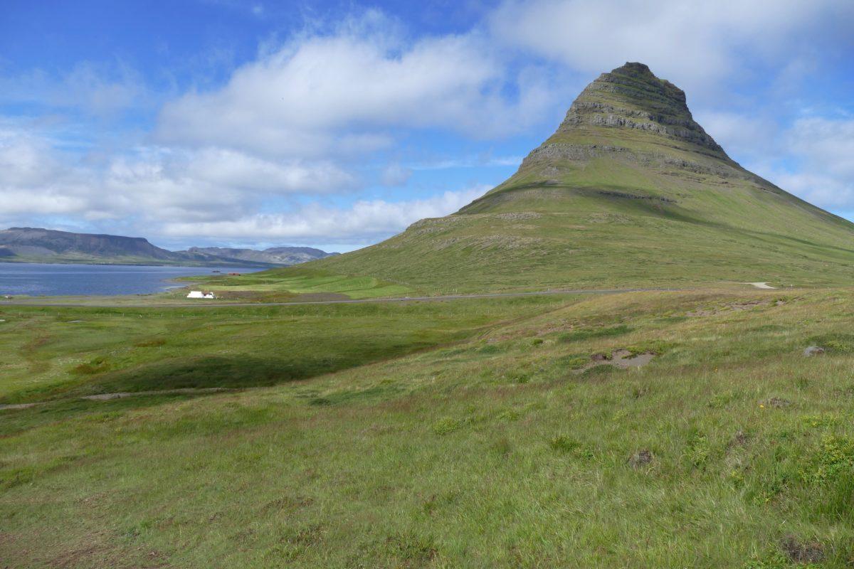 landscape, summer, knoll, mountain, mound, hill, grass, outdoor, knoll, blue sky