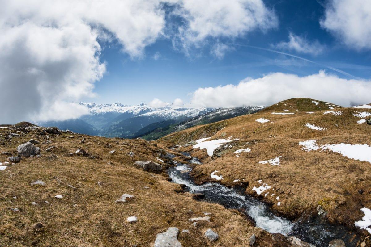 national park, mountain peak, snow, nature, landscape, blue sky, ascent, outdoor