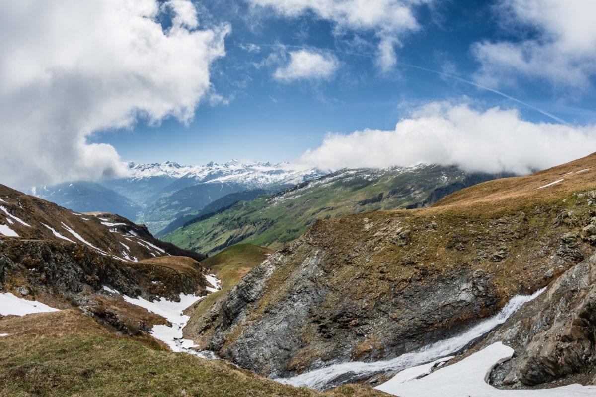 landscape, valley, blue sky, snow, mountain, nature, glacier, high, outdoor