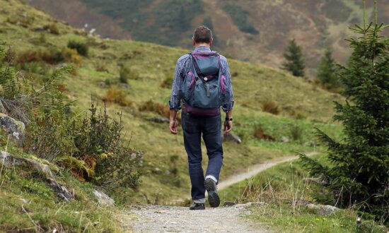 landscape, hike, nature, backpack, adventure, mountain, man, outdoor