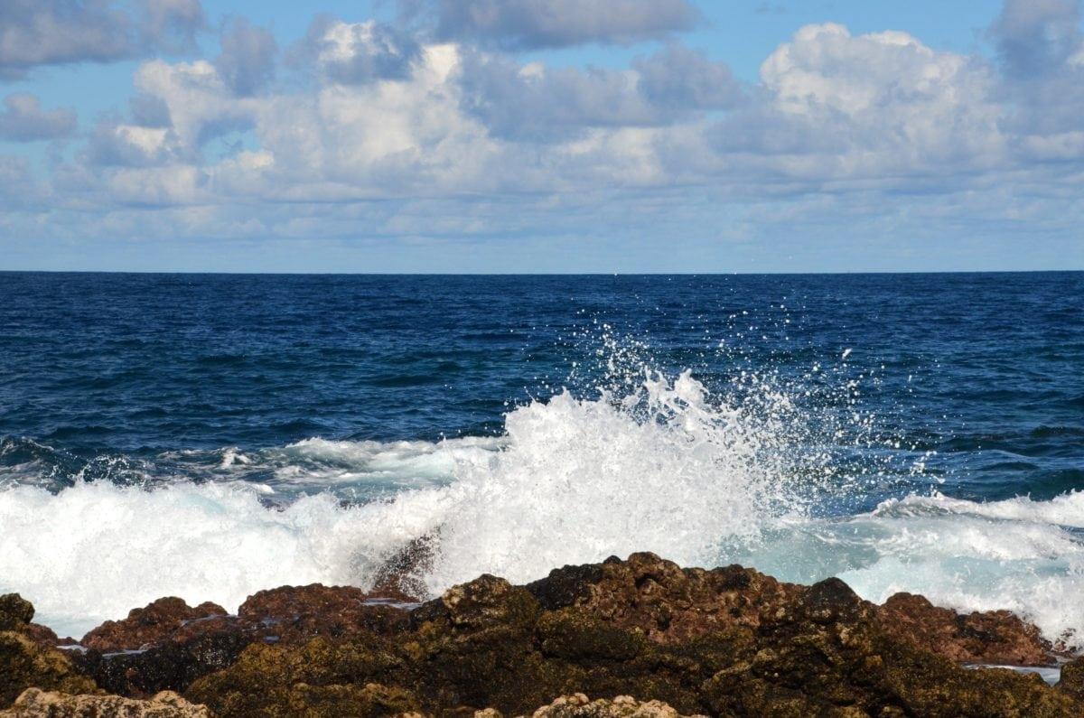 beach, water, ocean, sea, seashore, blue sky, cloud, shoreline, coast, coastline