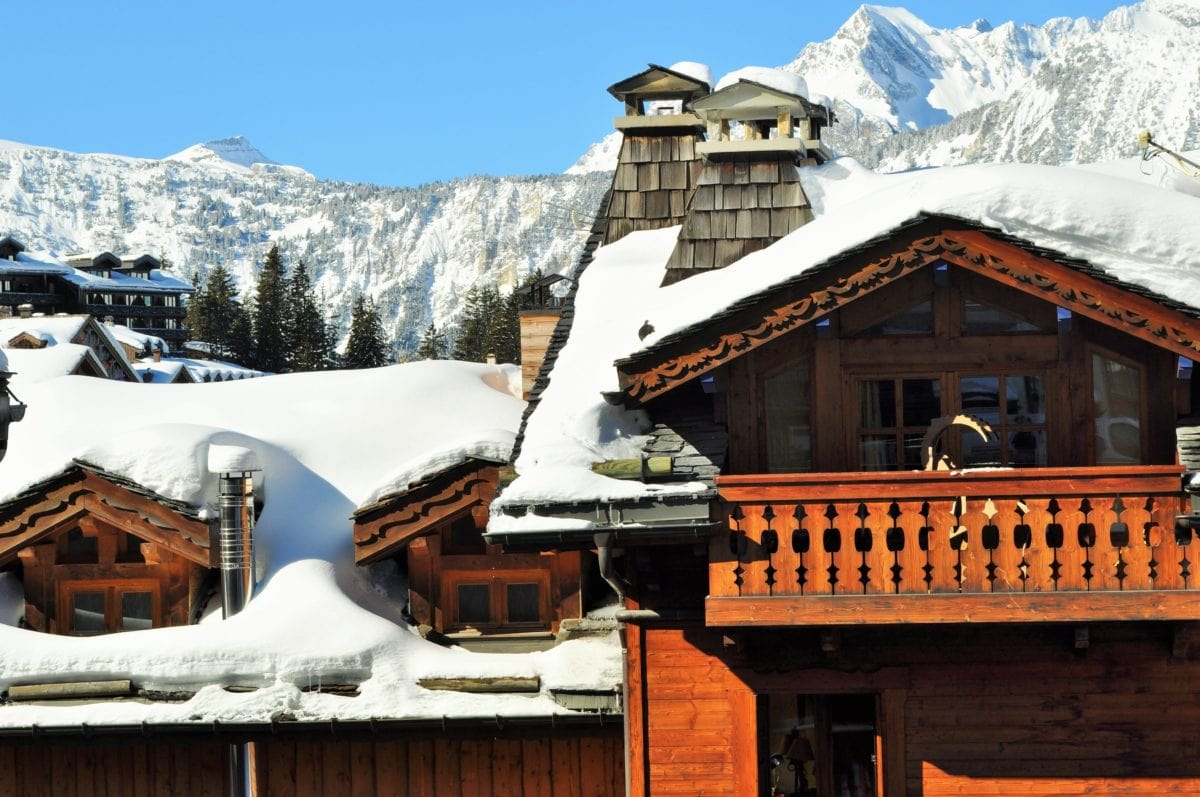 bungalow, roof, house, cottage, wood, architecture, snow, facade, winter