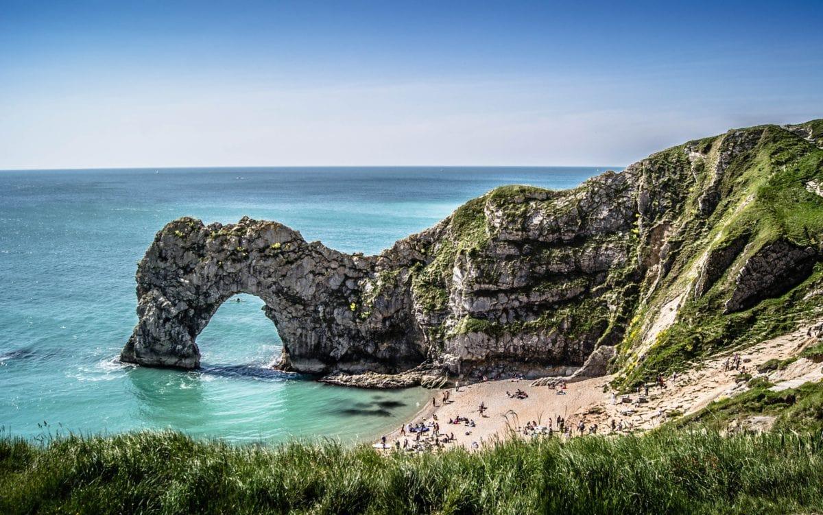 морски бряг, океан, каменно образувание, синьо небе, вода, плаж, море, пейзаж, природа