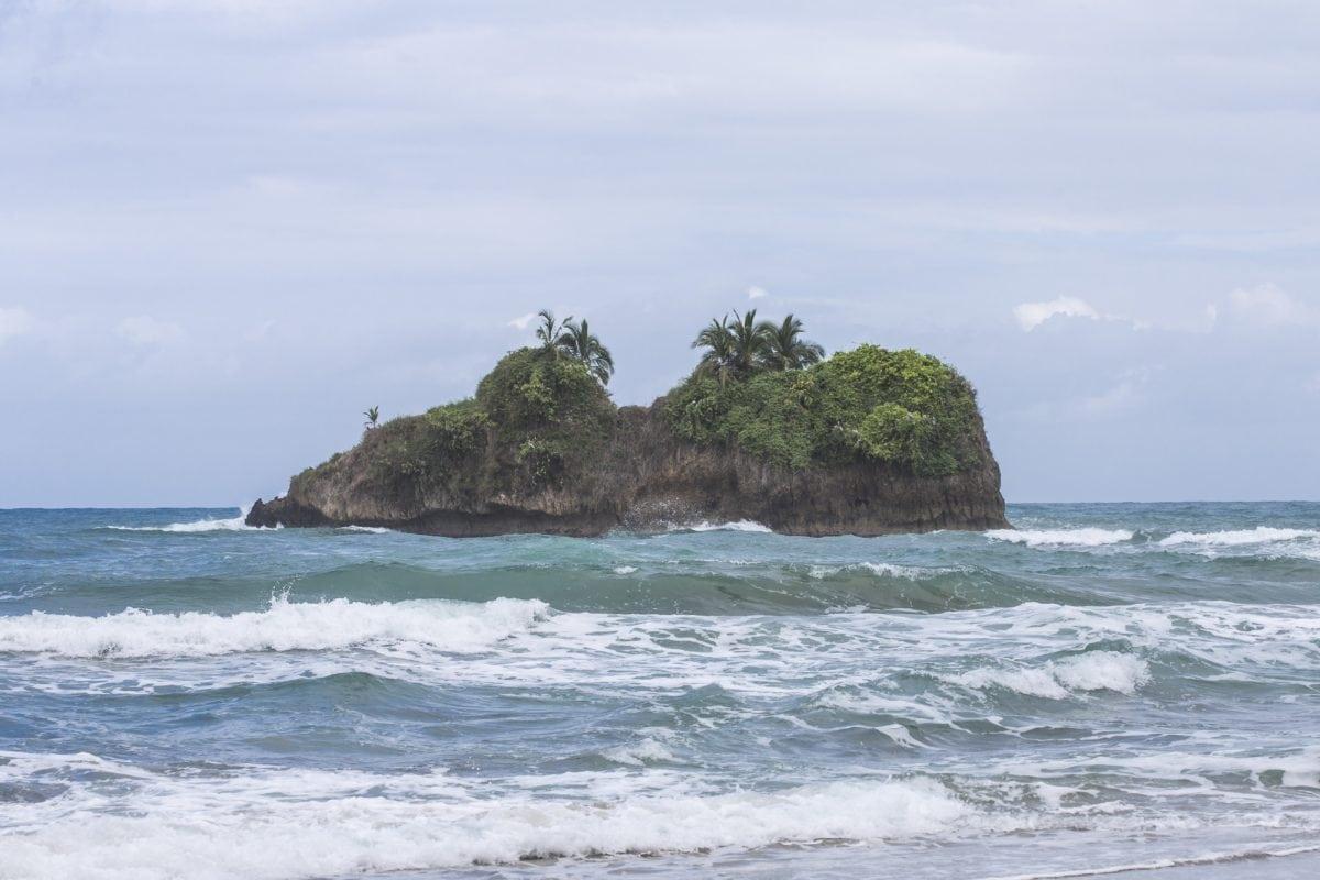 island, landscape, water, wave, seashore, ocean, beach, sea, coast