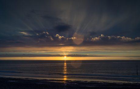 sea, landscape, night, shadow, darkness, sunset, ocean, sun, water, dawn, beach, sky