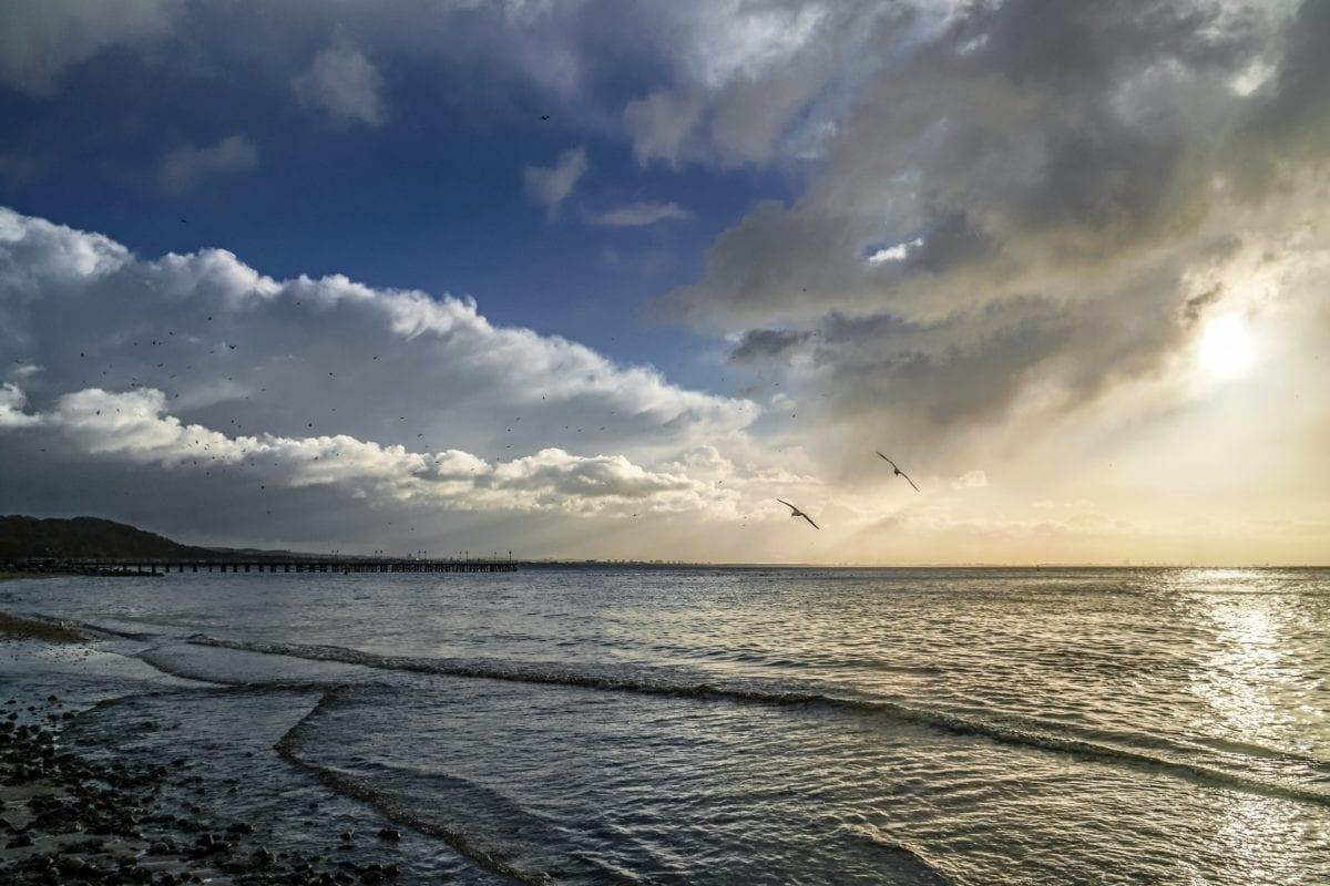 ทะเล, ชายหาด, น้ำ, ภูมิทัศน์, พระอาทิตย์ตก, มหาสมุทร, ท้องฟ้า, ชายฝั่ง