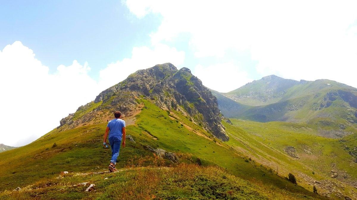 horolezectví, člověk, krajina, příroda, stoupání, obloha, venk., tráva