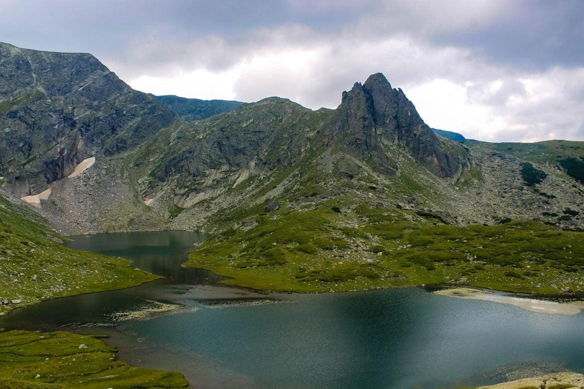 mountain, water, nature, landscape, lake, basin, river, blue sky, cloud