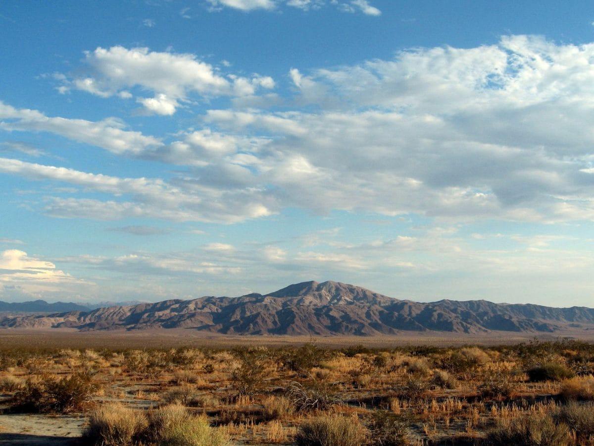 mountain, blue sky, landscape, steppe, land, outdoor, grass, field