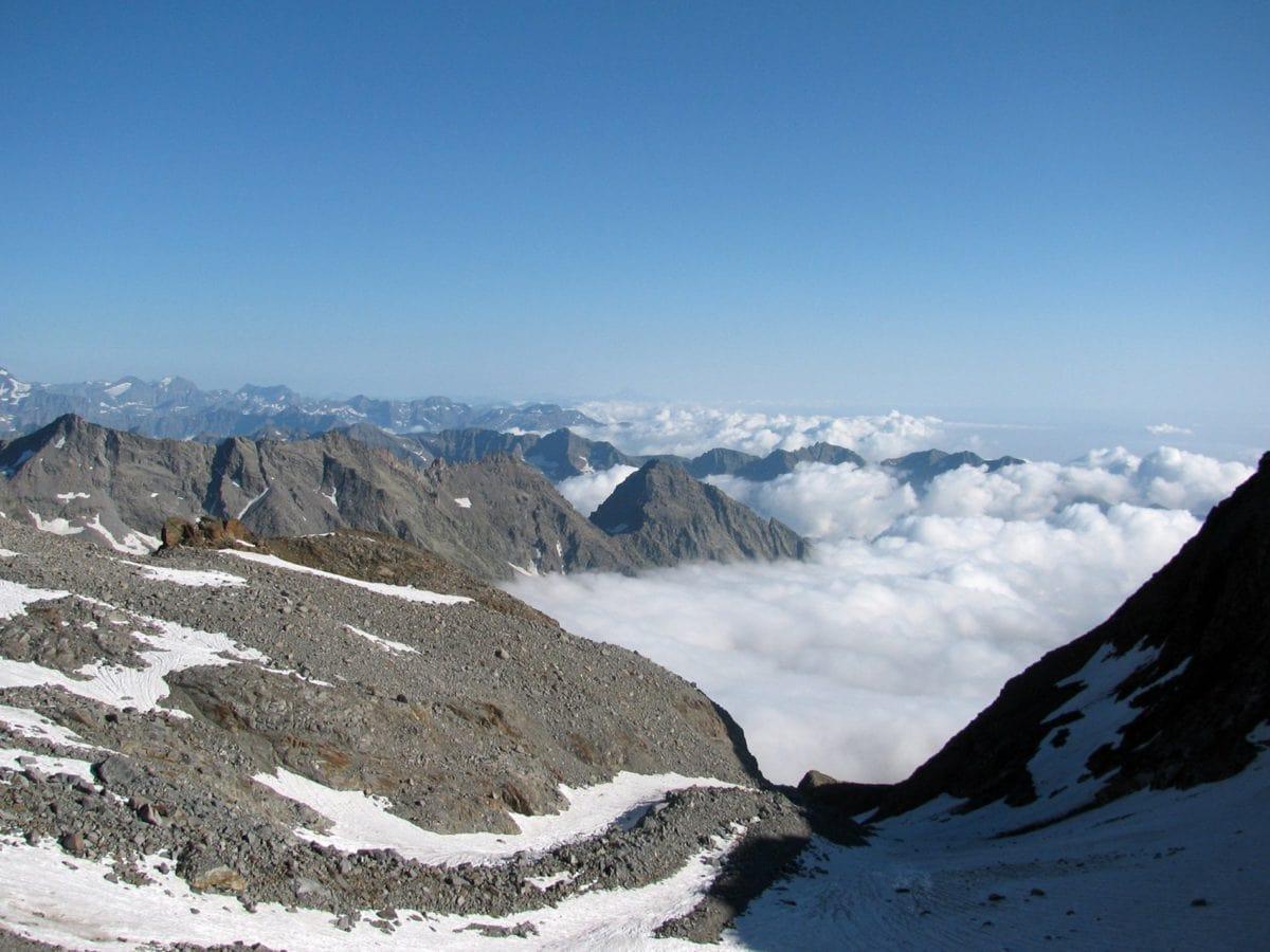 sky, snow, mountain, winter, ice, cold, glacier, landscape