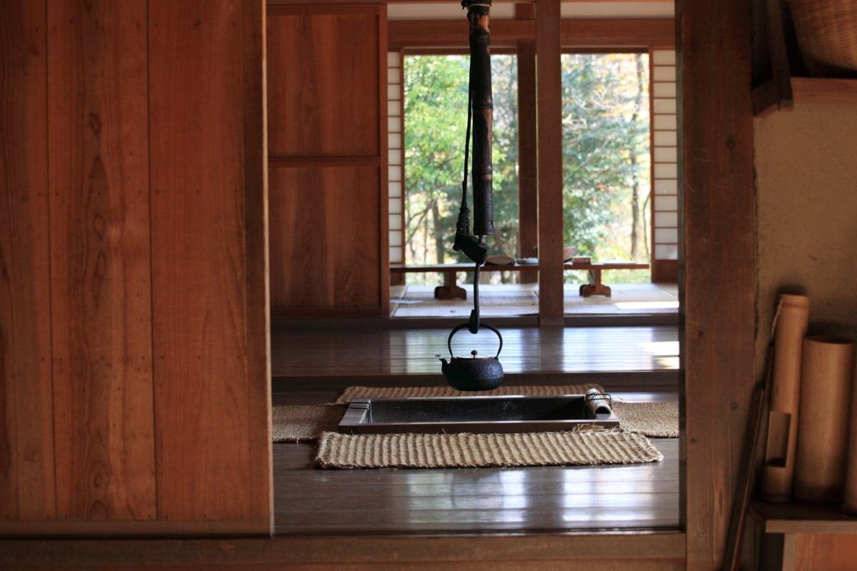 стая, прозорец, къща, Азия, Начало, мебели, декор, дърво, интериор