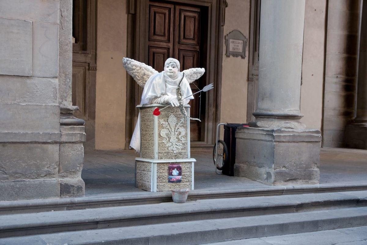arkitektur, religion, by, engel, skulptur, arrow, udendørs