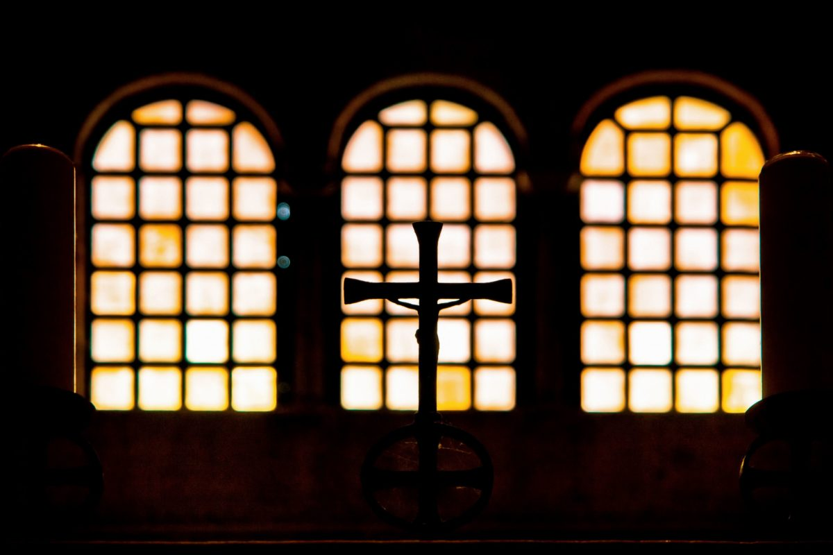 architecture, window, indoor, cross, church, shadow, darkness, Christianity, religion