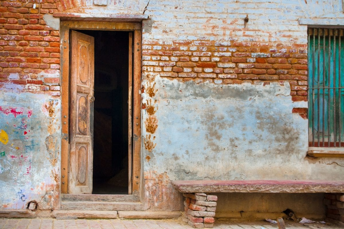 wall, architecture, old, window, house, door, brick