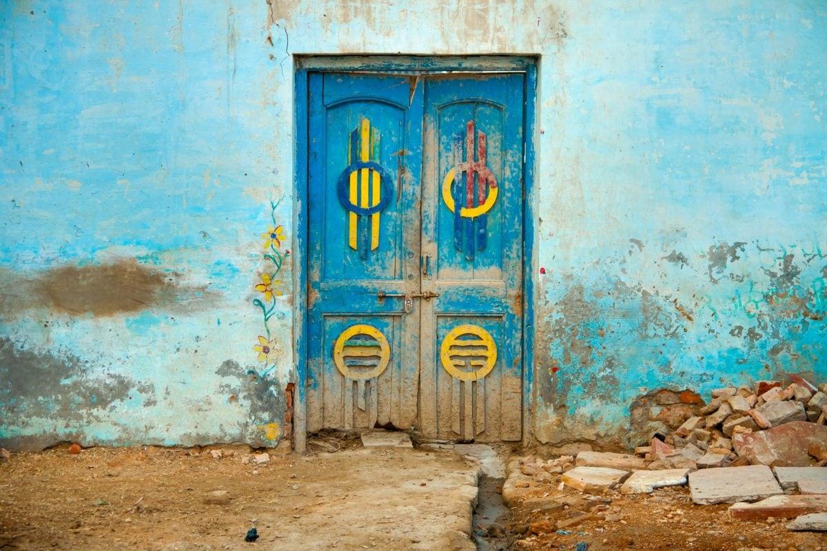 wall, architecture, door, old, window, ground, outdoor