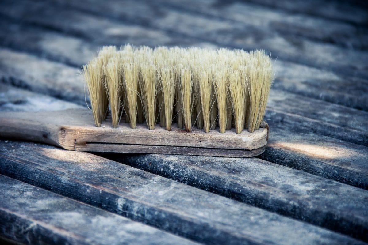 wood, broom, brush, ground, hand tool, brown, object