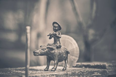 art, decoration, monochrome, sepia, object, sculpture, outdoor, boy, object, oriental, animal