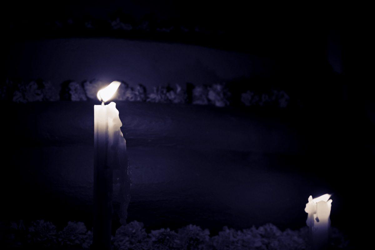 candle, dark, wax, warm, flame, darkness, smoke