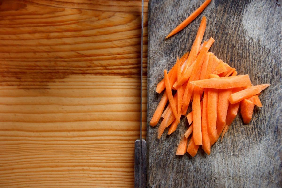 wood, carrot, knife, vegetables, kitchen table, salad, organic, food