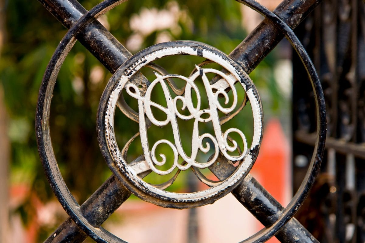 art, cast iron, old, fence, sign, symbol, metal, outdoor