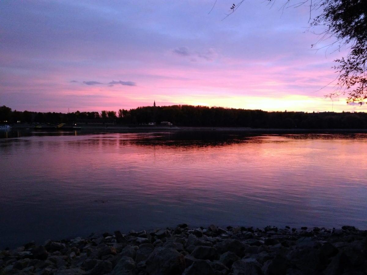 Morgendämmerung, See, Donau, Wasser, Sonnenuntergang, Landschaft, Dämmerung, Outdoor, Himmel