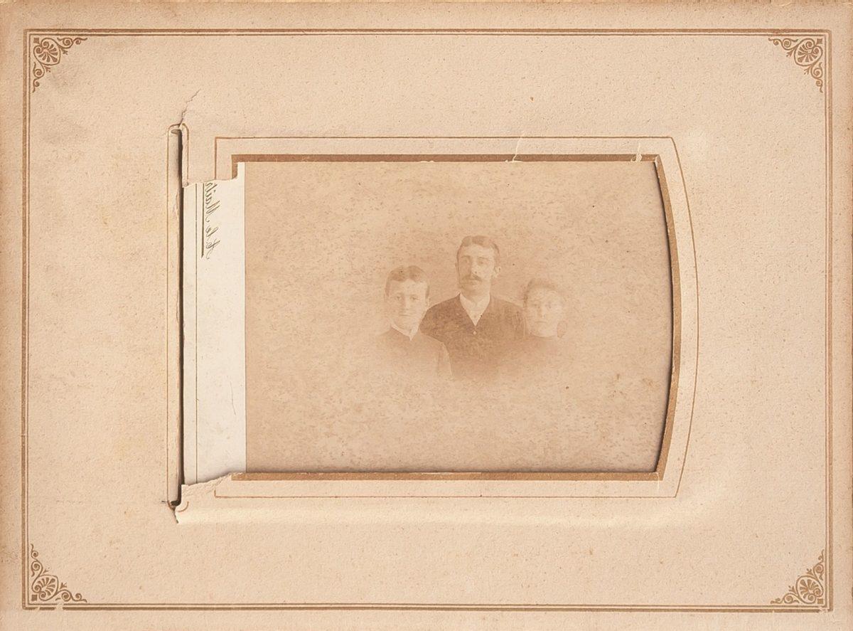 portrét, historie, fotografie, starý, fotografie, album, muž, rodina