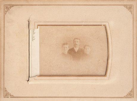 portré, történelem, Fénykép, régi, fotográfia, album, ember, család