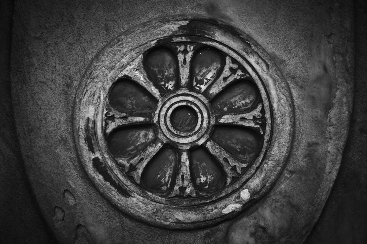 art, metal, steel, circle, old, monochromatic