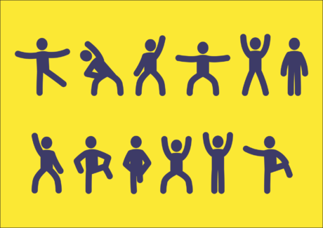 sign, illustration, exercise, yellow, symbol, graphics