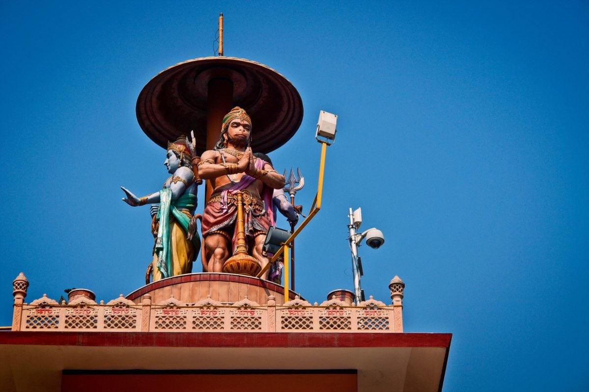 religion, statue, sculpture, architecture, Asia, blue sky, building