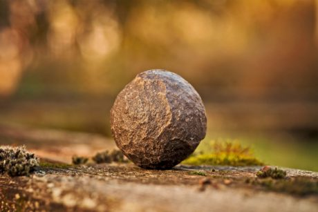 nature, boule, Pierre, nature, mousse, texture